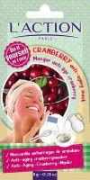L'ACTION Cranberry Anti - Aging Mask zurawinowa maska przeciwstarzeniowa 6g