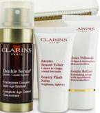 ZESTAW CLARINS Double Serum 30ml + Gentle Refiner Exfoliating Cream 30ml + Beauty Flash Balm 15ml