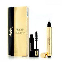 ZESTAW YVES SAINT LAURENT Volume Effet Faux Cils Mascara No1 Black 7,5ml + Touche Eclat Highlighter No2 2,5ml